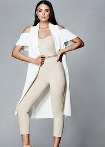 Marciano pants, crop top and jacket